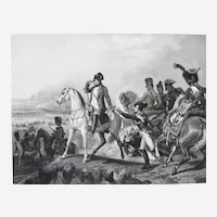 Napoleon Bonaparte Battle Scene Of Wagram 19th  Engraving After Horace Vernet