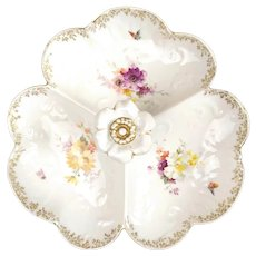 French Antiques Fine Porcelain decorated with floral bouquet, 19th century tableware bone china wedding porcelain