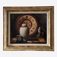 Original Painting Oil On Canvas Still Life Modern Painting By French Peinter Louis Adolphe Stritt