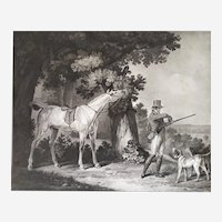 Hunting Horse Engraving After Carle Vernet 19th c