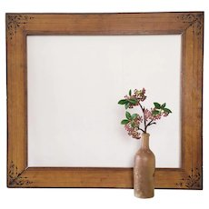 Antique Painted Wooden Picture Frame 19th c