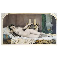 Greek Mythology Sappho Handcoloured Lithograph By Emile Lassalle After Barrias Goupil Publishers