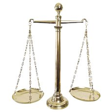 Scales of Justice - Antique Balance Scales -19th Century French Furniture - Lawyer Gift Kitchen Décor