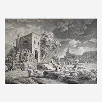 19th Antique Engraving Landscape  After Joseph Vernet