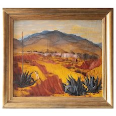 Oil Painting Landscape In Mexico By Enrique Bryant