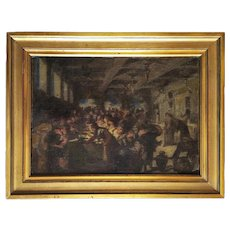Oil Painting By French Painter William Laparra Marriage At Cana After Tintoretto
