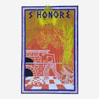 Art Deco Drawing St Honore Patron Of The Bakers Gouache By French Painter Paul Lavalley