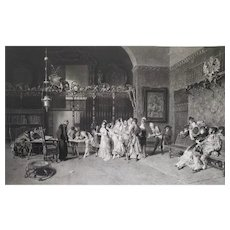19th Etching After Italian Oil Painting By Lucius Rossi