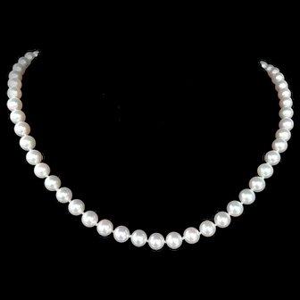 "Mizuki 18"" Salt Water Cultured Akoya Pearl Necklace"