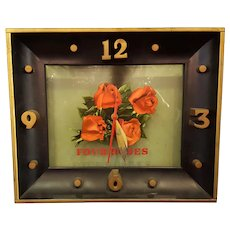 Four Roses Liquor Advertising  Electric Wall Clock