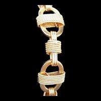 14k Gold Vintage Mid Century Mariner's Link Bracelet