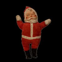 Vintage  1950's plush Santa with rubberized face
