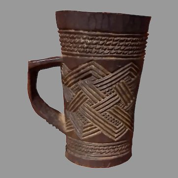 Primitive African Kuba Tribal Carved Wooden Palm Wine Cup