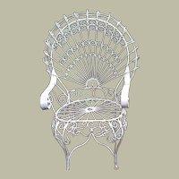 John Salterini Iron Peacock Patio Chair