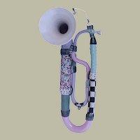 Vintage Steve Smeed Memphis Group Style Ceramic Trumpet/Horn