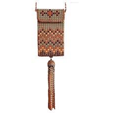 Vintage Whiting & Davis Enameled Mesh Purse/Handbag/Cigarette Case/Compact
