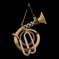 Vintage Steve Smeed Memphis Group Style Ceramic French Horn
