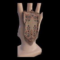 Vintage Mandalian Art Deco Enameled Mesh Purse