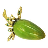 Original by Robert Green Lucite Cabochon Figural Brooch