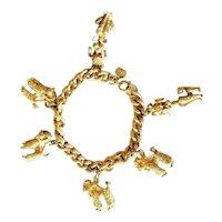 Judy Lee French Poodle Charm Bracelet