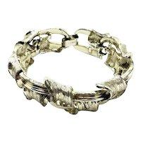 Lisner Textured Basket Weave Link Bracelet