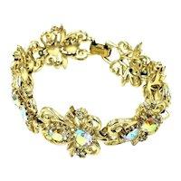 Coro Aurora Borealis Rhinestone Link Bracelet