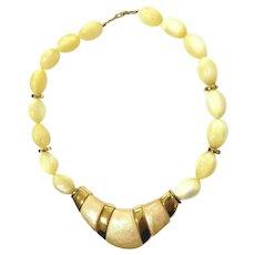 NAPIER Pearl Blossoms Resin Pendant Necklace VTG 1986