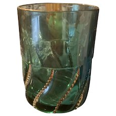 Tumbler - Turquoise with Gold  Swirls