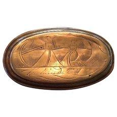 Dutch Oval Tobacco Box - ca 1780
