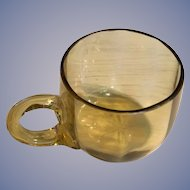 Amber Octagon Glass Punch Cup