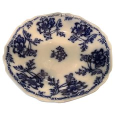 Flow Blue Soup Plate - ca: 1883
