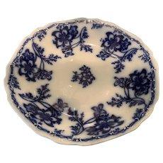 Flow Blue Soup Plate - ca: 1883