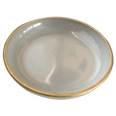 Opalescent/Frosted Glass Dish with Gold Trim - ca: 1800's