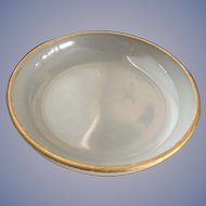 Opaline Frosted Glass Dish with Gold Trim - ca: 1800's
