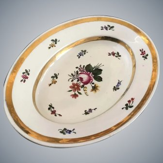 Continental Porcelain Oval Dish ca: 1800's