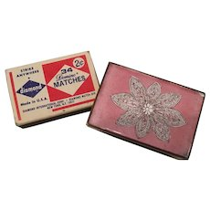 Enamel and Copper Match Box Holder