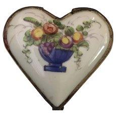 Dresser Box - Heart Shape with Flowers