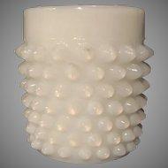 """Hobnail White Glass Vase - 1-3/4"""" height"""