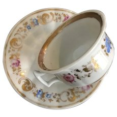 K P M Cup and Saucer - ca: 1840