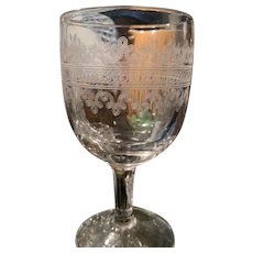"Goblets - Etched Glass (3) ""Heisey"""