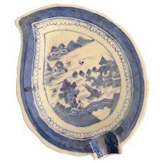 Chinese Leaf Shape Dish - ca: 1800's