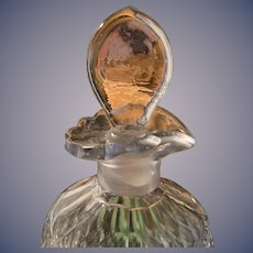 "Irish Cut Glass Decanter with Ruffled Top - 8-1/2"" height"