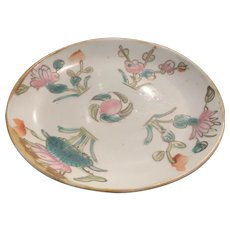 Chinese Famille Verte Saucer - ca: 1800's