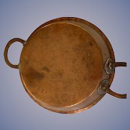 Copper Pan with large handles - ca: 1800's