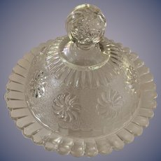Roman Rosette Covered Butter/Candy Dish
