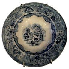 "Flow Blue - Scottish ""Cochran"" dish ca:1846-1896"