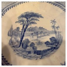 """Blue and White plate - 5-1/2"""""""
