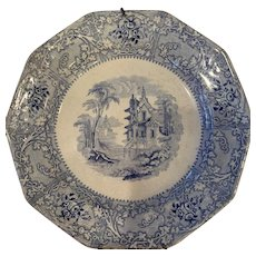 Davenport Blue and White Plate
