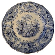 Blue and White Plate - ca: 1835-1859