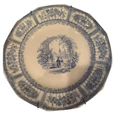 """Blue and White """"Bower"""" Plate"""